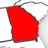 Georgia Red Abstract 3D State Map United States America — Stock Photo