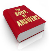 Book of Answers Wisdom Advice Help Manual — Stock Photo