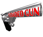 Loaded Gun Ready to Shoot Crime Shooting Danger — Stock Photo