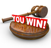 You Win Legal Victory Gavel Lawsuit Court Case — Stock Photo