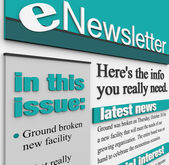 ENewsletter Alert Issue Email Delivering News Updates — Stock Photo
