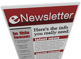 ENewsletter Issue Email Information Articles Update — Stock Photo