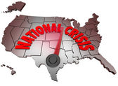 National Crisis USA Map United States America Trouble — Stock Photo