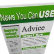 Advice eNewsletter Tips Hints Support Ideas Newsletter - Lizenzfreies Foto