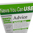 Stock Photo: Advice eNewsletter Tips Hints Support Ideas Newsletter
