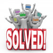 Solved Cheering Solution Answer Plan Goal Achieved — Stock Photo #16977383