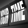 Your Time Words on Retro Clock Flip Tiles Personal Break Vacatio - Foto Stock