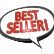 Stock Photo: Best Seller Words Speech Bubble Cloud Top Product