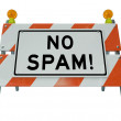 No Spam Barrier Blockade Barricade E-Mail Filter — Stock Photo