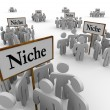 Stock Photo: Many Niche Groups Clustered Around Niches Signs