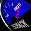 Feedback Fuel Gauge Customer Opinions Reviews Comments — Stockfoto #16977569