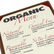 Organic Menu Natural Chemical-Free Renewable Food Source — Stock Photo