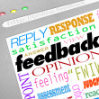 Feedback Online Survey Answers Opinions — Stock Photo