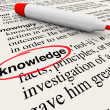 Knowledge Word Dictionary Definition Cirlced - Stock Photo