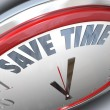 ストック写真: Save Time Clock Management Tips Advice Efficiency