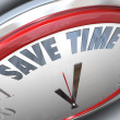 Save Time Clock Management Tips Advice Efficiency - Foto Stock