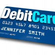 Debit Card Plastic Bank Charge Banking Account — Stock Photo #16977701