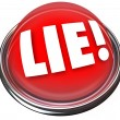 Lie Detector Flashing Red Light Alarm Polygraph Lying - Stock Photo