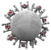 Cadeau geven wereld dialoogvensters — Stockfoto