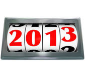 Odometer Reading 2013 Ticking Down to New Year — Stock Photo