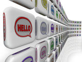 Hello Words Global Languages Diversity Cultures Welcome — Stock Photo
