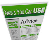 Advice eNewsletter Tips Hints Support Ideas Newsletter — Stock Photo