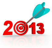 2013 New Year Arrow in Number Target — Stock Photo
