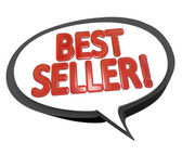 Best Seller Words Speech Bubble Cloud Top Product — Stock Photo