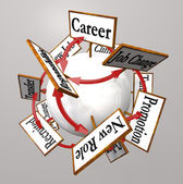 Career Signs Professional Job Path Promotion Change — Stock Photo