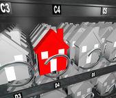 Casas en máquina expendedora inmobiliaria excedentes único hogar — Foto de Stock