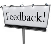 Feedback Word on Billboard Seeking Opinions Comments Input — Stock Photo