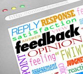 Feedback Online Survey Answers Opinions — Stockfoto