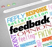 Feedback online-undersökning svarar åsikter — Stockfoto