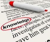 Conocimiento palabra diccionario definición cirlced — Foto de Stock