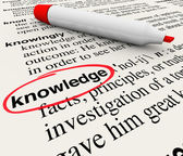 Kennis woord woordenboek definitie cirlced — Stockfoto