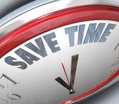 保存时间时钟管理小贴士咨询效率 — 图库照片