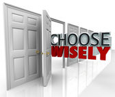 Choose Wisely Many Doors Best Selection — 图库照片