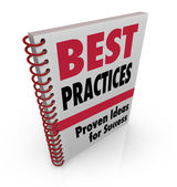 Best Practices Book Ideas for Success — Stock Photo