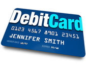 Debit Card Plastic Bank Charge Banking Account — Stock Photo