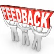 Feedback Team Lift Word Customer Support Service — Foto de stock #18626957