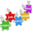 Project Team Working on Job Activity Venture Mission - Stock Photo