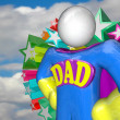 Superhero Dad Super Hero Father Costume - Stock Photo