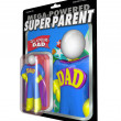 Superhero Action Figure Super Dad Father Figure - Стоковая фотография