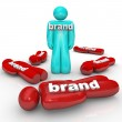One Brand Market Leader Top Product Company — Stock Photo