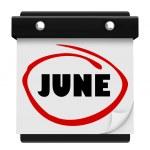 June Word Wall Calendar Change Month Schedule — Stock Photo