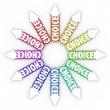 Choice Arrows Different Choices Opportunities Uncertainty — Stock Photo