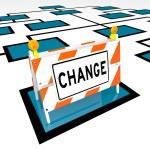 Change Word Barricade Org Chart New Organization — Stock Photo