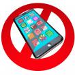 Stock Photo: No Smart Phones Do Not Call Talk on Cell Phone Telephone