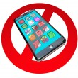 No Smart Phones Do Not Call Talk on Cell Phone Telephone - Stock Photo