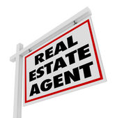 Real Estate Agent Sign Advertising Agency — Stock Photo